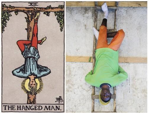Alicia Smeets, The Ghetto Tarot -  The Hanged Man