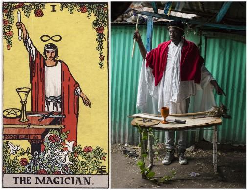 Alicia Smeets, The Ghetto Tarot -  The Magician