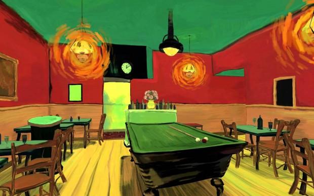 the night cafe van gogh virtual digital render