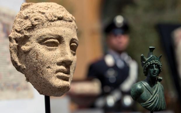 25 opere antiche rubate tornano in italia dagli stati uniti