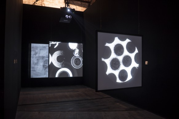 Le opere di Aldo Tambellini nella mostra Codice Italia - Padiglione Italia della Biennale d'Arte di Venezia 2015