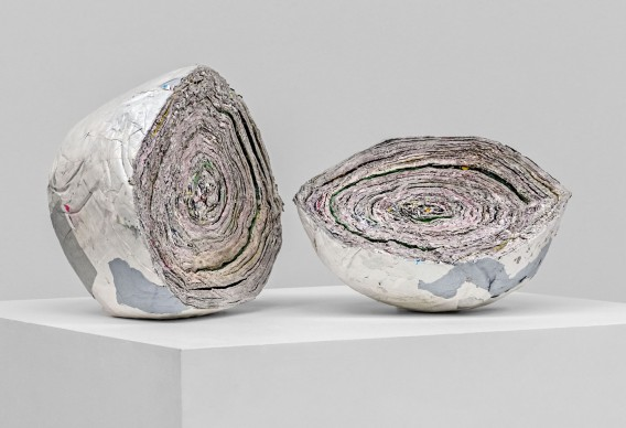 Damián Ortega, Estratigrafía 4, 2012,  21,5 x 33,5 x 27,5 cm e 14 x 31,5 x 30 cm, Courtesy l'artista e kurimanzutto, Mexico City