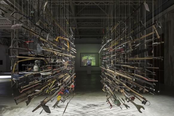 Damián Ortega, Casino - Installation view. Foto Agostino Osio. Courtesy Fondazione HangarBicocca, Milano