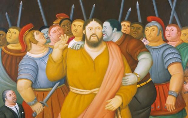 Fernando-Botero-Il-bacio-di-Giuda-Via-Crucis