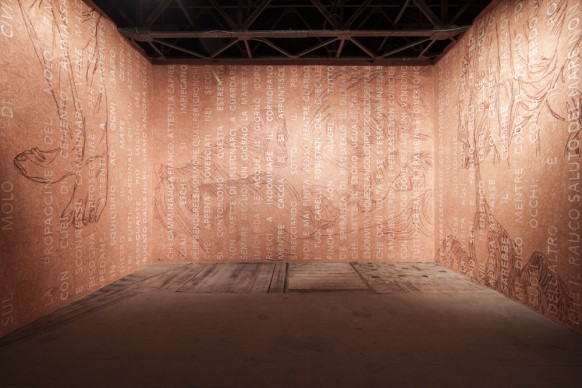 L'opera di Giuseppe Caccavale nella mostra Codice Italia - Padiglione Italia della Biennale d'Arte di Venezia 2015