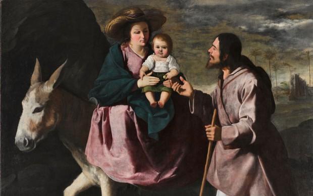 Francisco de Zurbarán, Fuga in Egitto, 1630-35, olio su tela, Seattle Art Museum