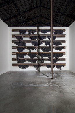 Opere di Jannis Kounellis nella mostra Codice Italia - Padiglione Italia della Biennale d'Arte di Venezia 2015