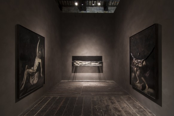 Le opere di Nicola Samorì nella mostra Codice Italia - Padiglione Italia della Biennale d'Arte di Venezia 2015