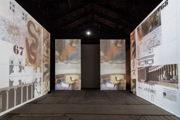 Il lavoro di Peter Greenaway nella mostra Codice Italia - Padiglione Italia della Biennale d'Arte di Venezia 2015