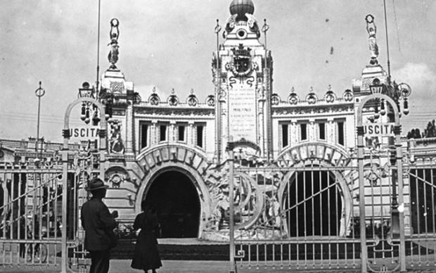Vincenzo Conti, Propileo dell'Esposizione al Parco_facciata Padiglione Galleria del Sempione_arch S. Locati
