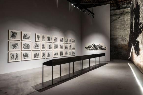 Le opere di William Kentridge nella mostra Codice Italia - Padiglione Italia della Biennale d'Arte di Venezia 2015