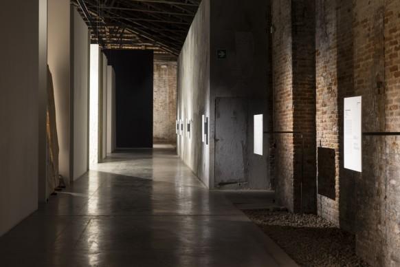 Veduta dell'allestimento di Codice Italia - Padiglione Italia della Biennale d'Arte di Venezia 2015