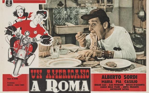 locandina film alberto sordi un americano a roma