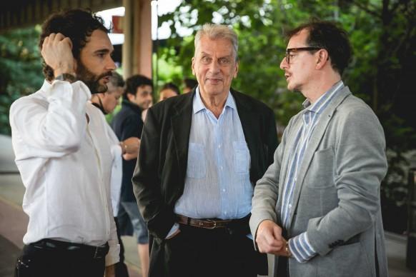 Al centro, il regista e attore Alessandro Quasimodo © Antinori