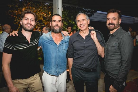 Da sinistra: il conduttore Federico Russo, il designer Stefano Seletti, il  Presidente della Camera della Moda Carlo Capasa, lo stilista Ennio Capasa © Antinori