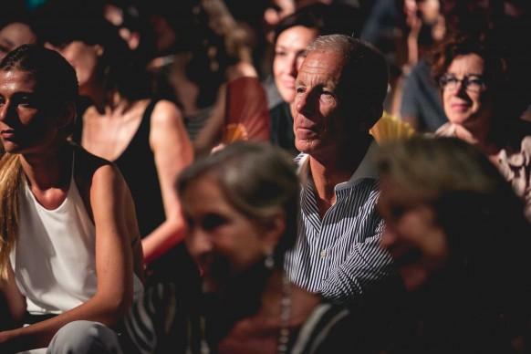 Il giornalista Guido Bagatta durante il concerto © Antinori