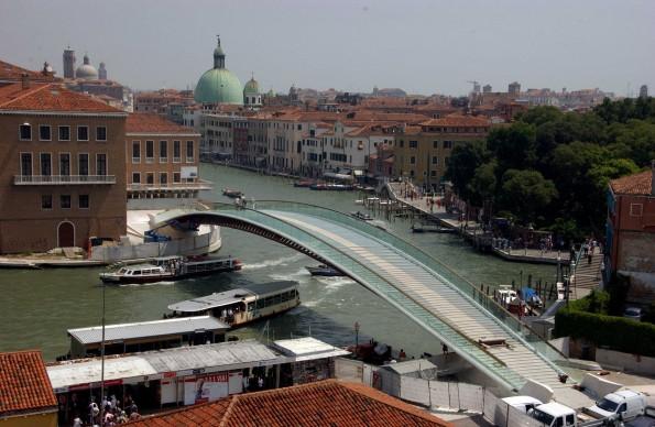 Santiago Calatrava, Ponte della Costituzione, Venezia. Credits: SEBASTIANO CASELLATI/AFP/Getty Images