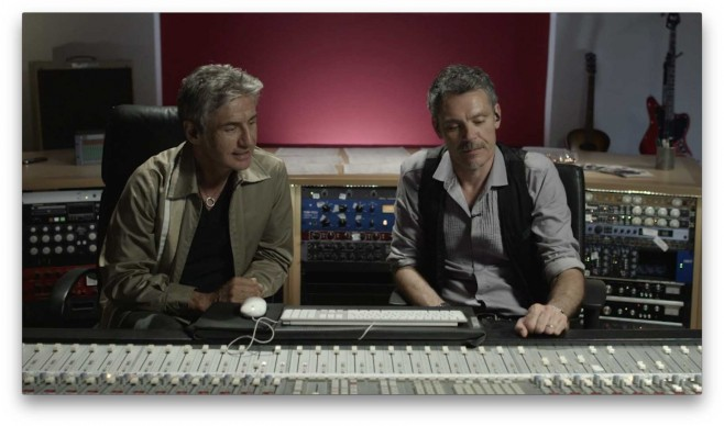 Ligabue in studio con il produttore Fabrizio Barbacci