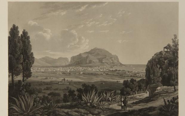 Louis Nicolas Philippe Auguste de Forbin (La Roque d'Anthéron, 1777-Parigi, 1841) Vue gènèrale de Palerme prise des hauteurs de Santa Maria di Gesù