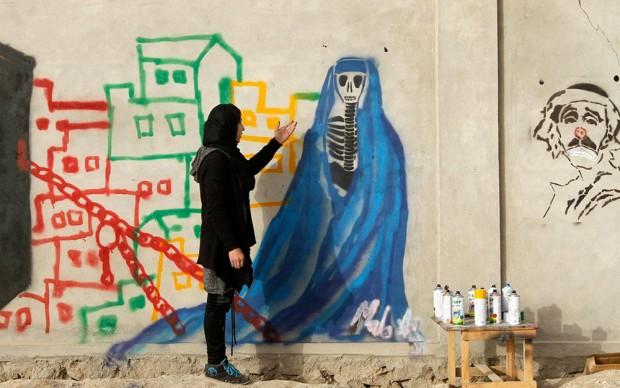 Malina Suliman street art Afghanistan