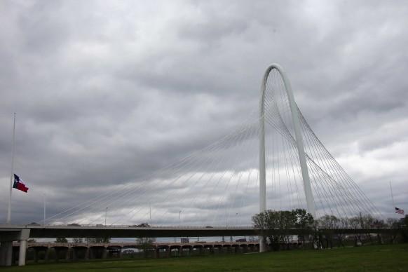 Santiago Calatrava, Margaret Hunt Hill Bridge, Dallas (Texas). Credits: Ronald Martinez/Getty Images