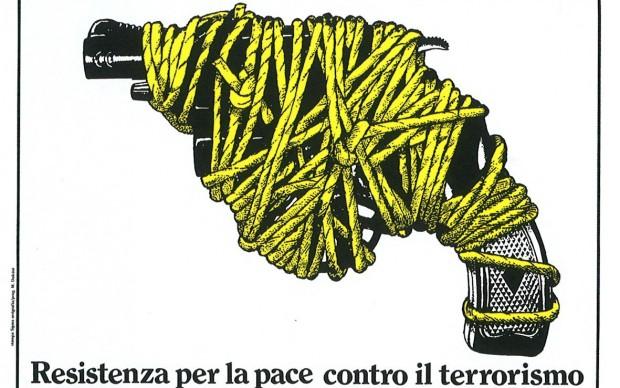 Massimo Dolcini, manifesto del congresso ANPI a Pesaro, 1980