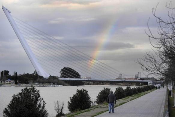Santiago Calatrava, Ponte di Alamillo, Siviglia. Credits: ODD ANDERSEN/AFP/Getty Images