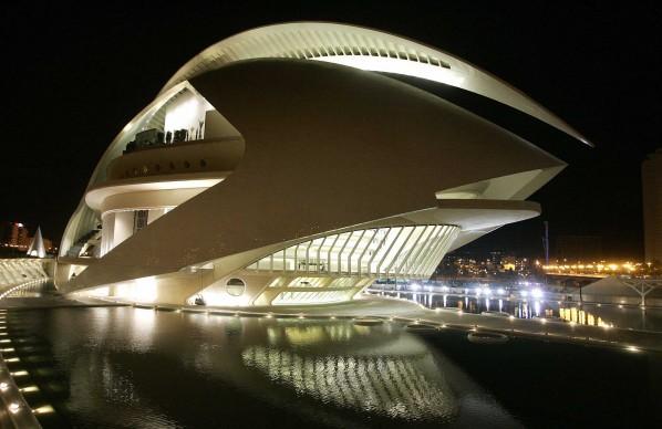 Santiago Calatrava, Città delle arti e delle scienze, Valencia. Credits: JOSE JORDAN/AFP/Getty Images