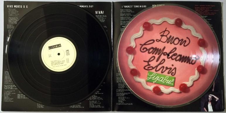 """Il lato A del doppio LP di """"Buon compleanno Elvis"""""""