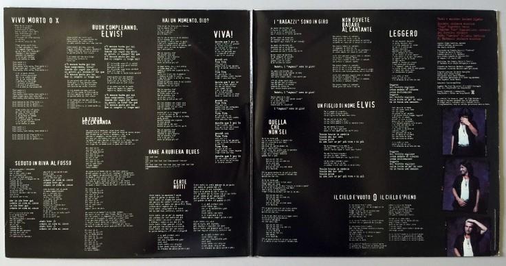 """I testi delle canzoni contenute nell'album """"Buon compleanno Elvis"""""""