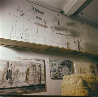 Atelier di Fausto Melotti a Milano, foto pubblicata su Domus n° 400, marzo 1963, Photo: Domus Archives © Editoriale Domus S.p.A. Rozzano
