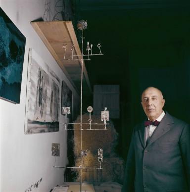 Ritratto di Fausto Melotti, foto pubblicata su Domus n° 400, marzo 1963, Photo: Domus Archives © Editoriale Domus S.p.A. Rozzano