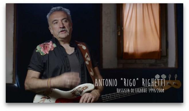 """Il bassista Antonio """"Rigo"""" Righetti"""