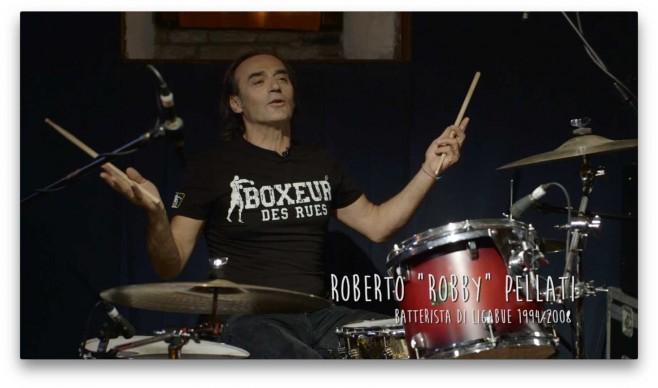 "Il batterista Roberto ""Robby"" Pellati"