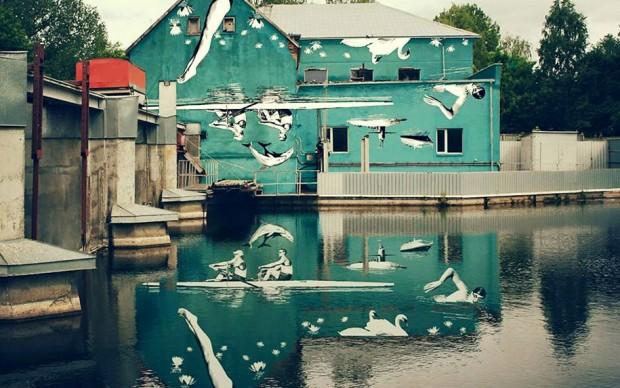 street-art-murale-capovolto-riflesso-acqua