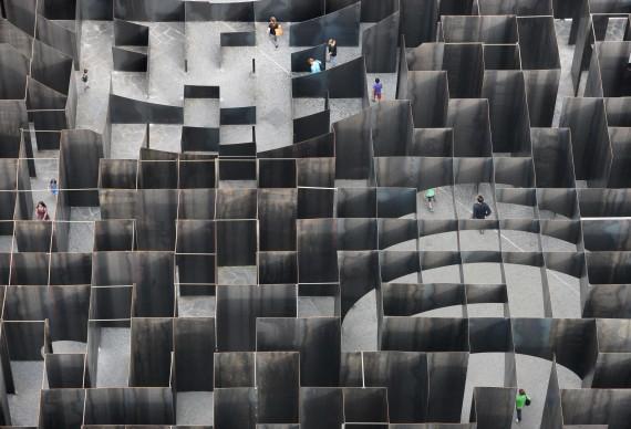 Pieterjan Gijs e Arnout Van Vaerenbergh, Labyrinth, 2015, Genk - Belgio. Photo: Filip Dujardin