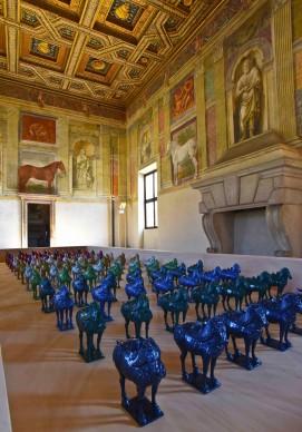 Ai Weiwei, Horses, 2014, Palazzo Te, Mantova