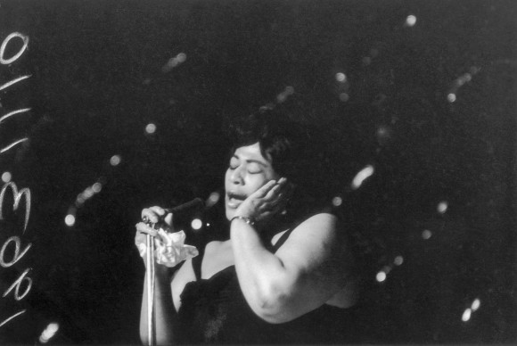 Ella Fitzgerald in concerto all'Hammersmith Odeon (Photo by R Dumont/Getty Images)