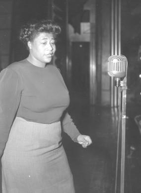 Ella Fitzgerald live nel 1958 (Photo by Keystone/Getty Images)