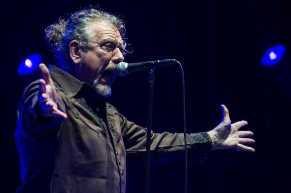 Robert Plant al festival francese Eurockeennes di Belfort, nel 2014  (Photo by SEBASTIEN BOZON/AFP/Getty Images)