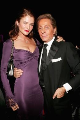 Helena Christiensen e Valentino a New York nel 2006 (Photo by Evan Agostini/Getty Images)