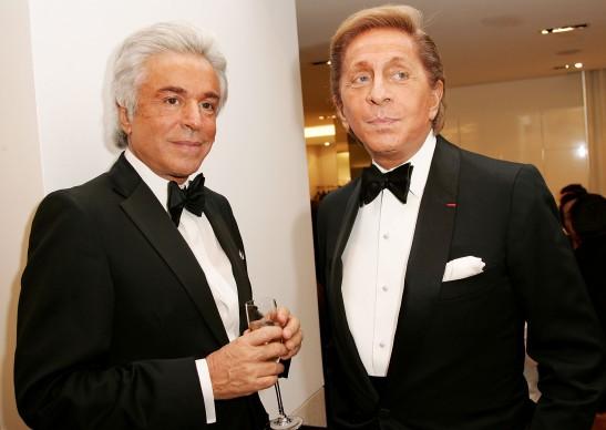 Giancarlo Giametti e Valentino nel 2006 a New York (Photo by Evan Agostini/Getty Images)