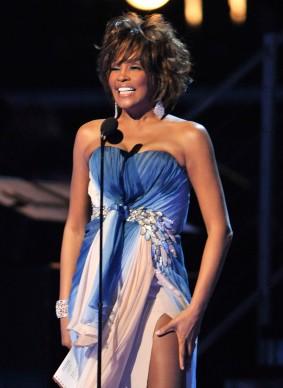 Whitney Houston alla 51esima edizione dei Grammy Awards, nel febbraio del 2008 (Photo by Kevin Winter/Getty Images)