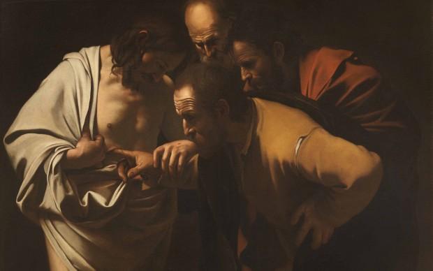 Pittore-del-Seicento-da-Caravaggio-Incredulità-di-San-Tommaso-Firenze-Galleria-degli-Uffizi