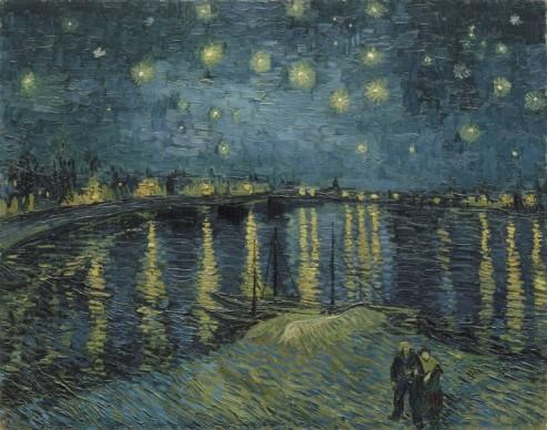 Vincent van Gogh (1853 - 1890), Starry Night over the Rhône, 1888, Musée d'Orsay, Paris