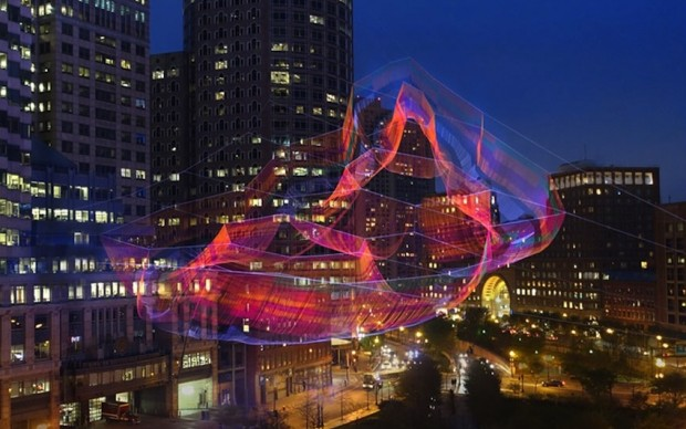 boston installazione urbana echelman