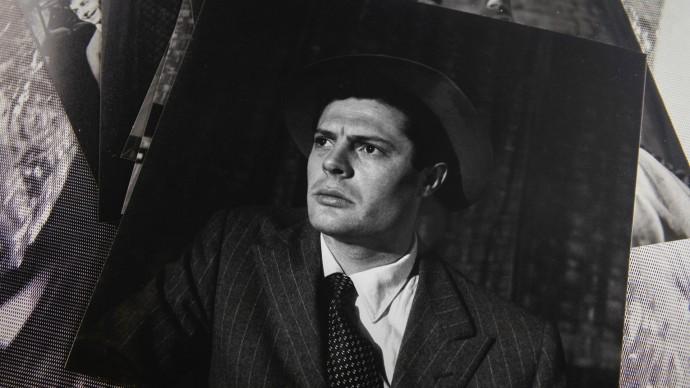 Marcello Mastroianni in una foto d'epoca