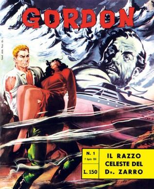 La copertina di un albo a fumetti italiano del 1964, parte della serie intitolata a Flash Gordon