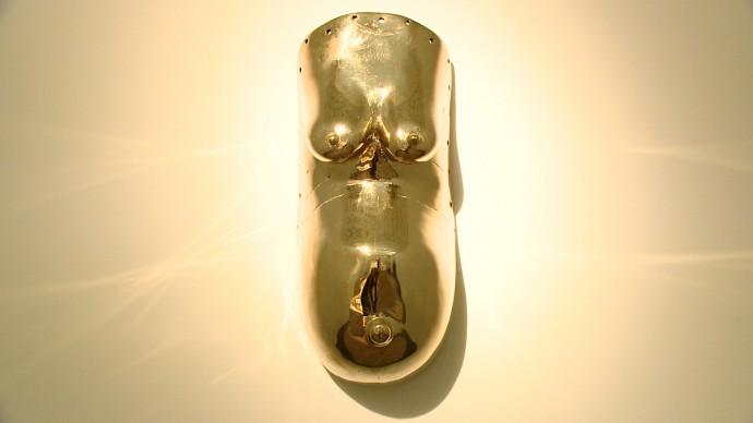 Sherrie Levine, Body Mask [Maschera-corpo], 2007, calco in bronzo, 57,2 × 24,1 × 14,6 cm. Collezione privata
