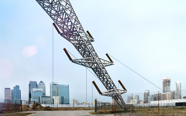 A-Bullet-from-a-Shooting-Star-by-Alex-Chinneck-Supported-by-Knight-Dragon,-image-courtesy-of-the-London-Design-Festival